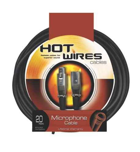 Hot Wires MC12-20 Microphone Cable 5-Pack 20'