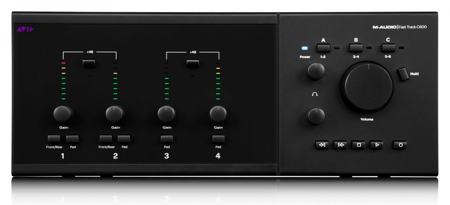 M-Audio Fast Track C600 USB Audio Interface with Pro Tools SE Software