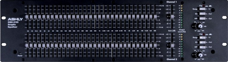 Ashly GQX 3102 31 Band Graphic Equalizer
