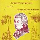 Vintage Mozart Symphony No. 40 (First Theme) Piano Solo Sheet Music Schaum 1971