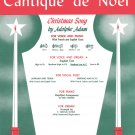Cantique de Noël (O Holy Night) Medium Low Voice (in C) and Organ