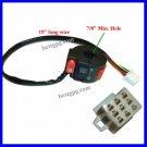 "Handle Bar Switch 8 Wire 19""L One Male Plug 8 Female Pi"