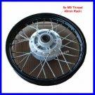 Front Wheel Rim Assy 1.4x12 Disc Brake Dirt Bike Blk