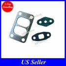 Set Turbo Oil Feed Drain Stainless Steel Gasket Gaskets Mitsubishi 3ML Turbo