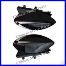 Rear Side Fenders, KCZ50-125 or Honda Dirt Bikes, Black