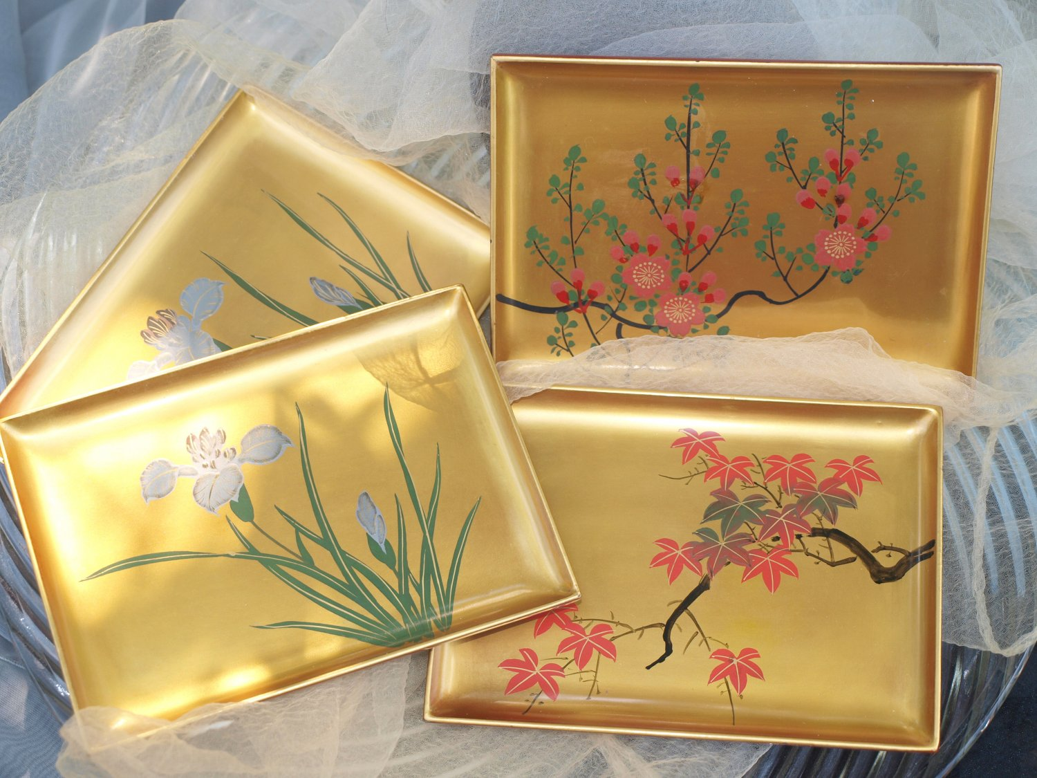 Japanese Lacquered Tip Trays