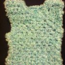 Crocheted Soft Blue and Green 6 Month Vest