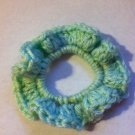 Green Crocheted Hair Scrunchie
