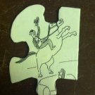 Handmade Man on a Horse Puzzle Pendant