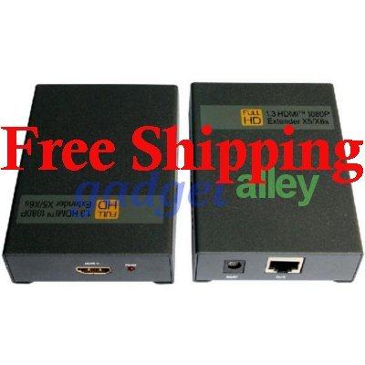 HDMI Over Single Ethernet Cable Extender 1080p CAT 5e/6 60m 180ft Point-to-Point