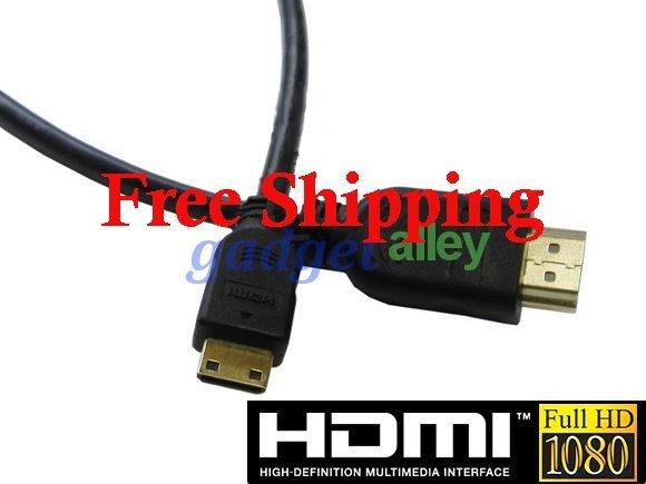 HTC-100 HDMI- mini HDMI Cable for Sony HDR Canon Camera 1.8ft