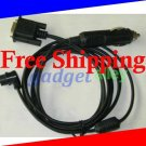 for Garmin GPSMAP 176 176C 196 295 PC Data 12V DC Power Cable 2in1 Comparable to 010-10165-00
