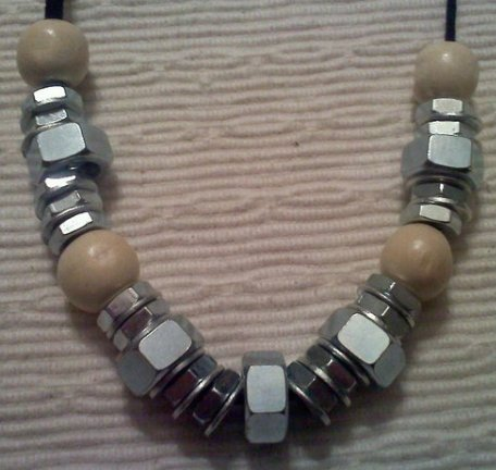 Hex Nut and Washer Necklace