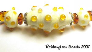 "RAM~Handmade lampwork beads~""Molecular""(3)"