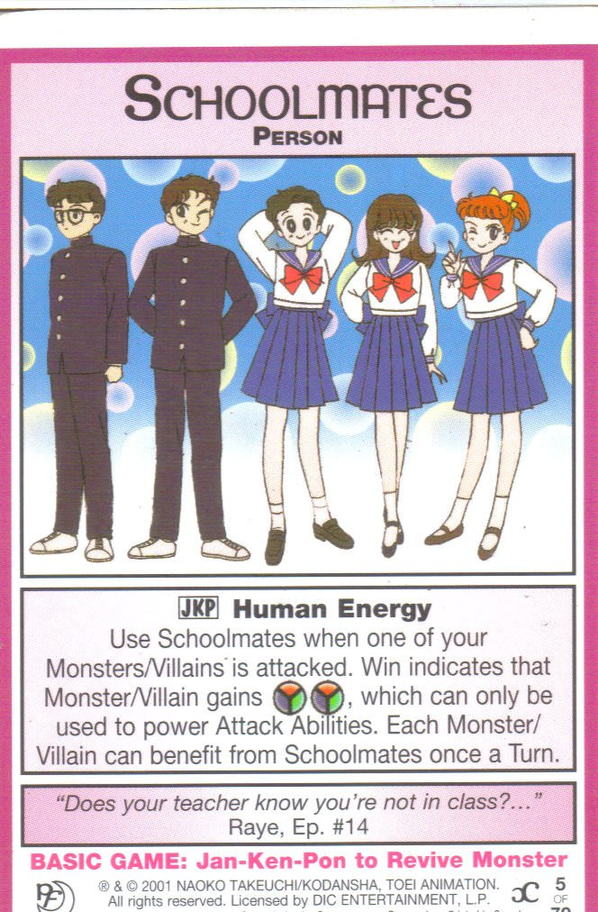 Sailor Moon Past & Future CCG Schoolmates Person #5
