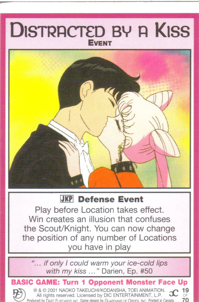 Sailor Moon Past & Future CCG Distracted  By A Kiss Event #19