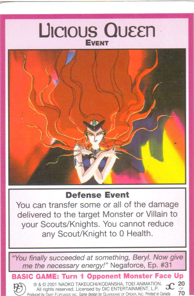 Sailor Moon Past & Future CCG Vicious Queen Event #20