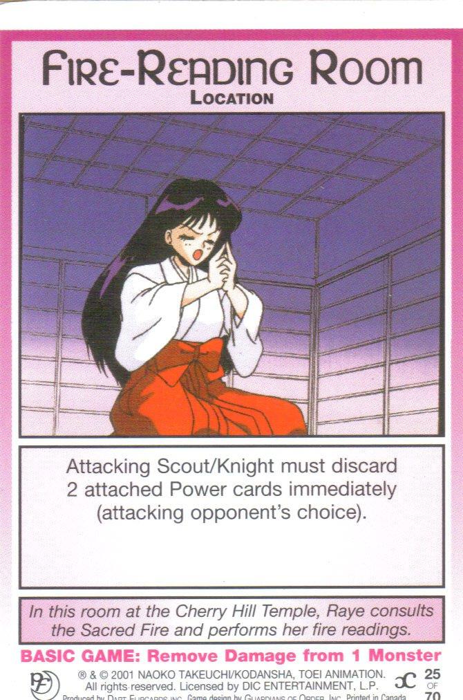 Sailor Moon Past & Future CCG Fire-Reading Room Location #25