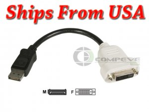 DisplayPort to DVI-D Video Card Adapter Cable Connecter Converter 23NVR Dell