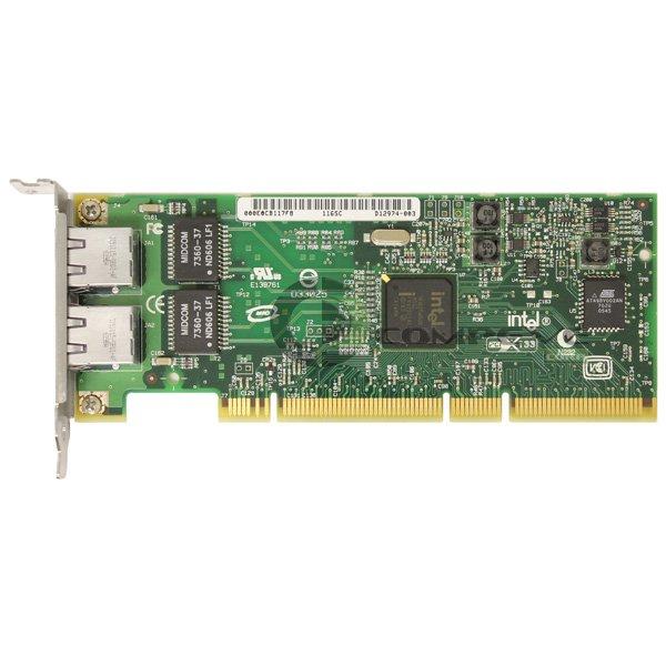 Intel PRO/1000 GT Dual Port Gigabit Ethernet PCIx Network Card D12974-003 Low Br