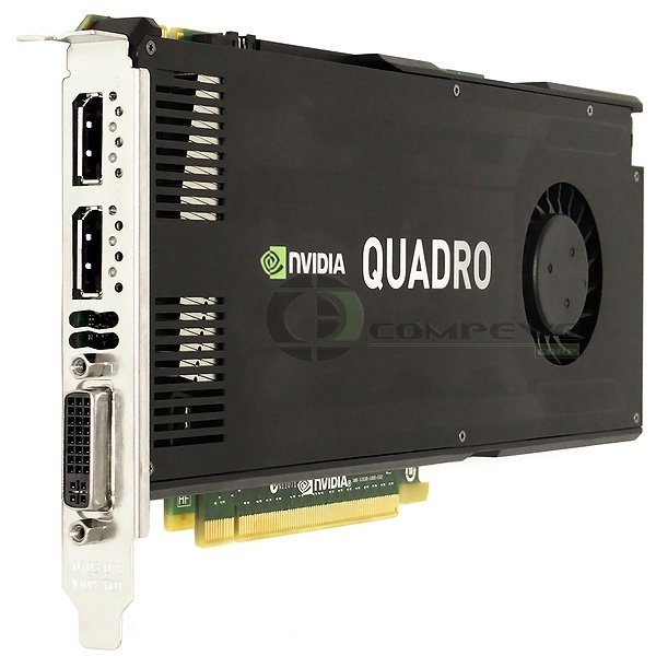 HP Nvidia Quadro K4000 3GB PCIe x16 DisplayPort DVI-I Graphics Card 700104-001