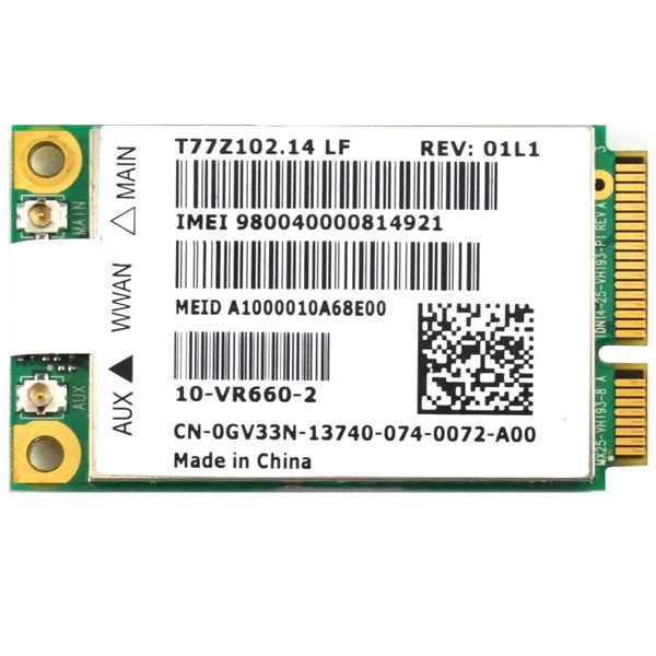 Qualcomm Dell Wireless 5620 EVDO-HSPA Mobile Broadband MiniCard GOBI2000 WWAN 3G
