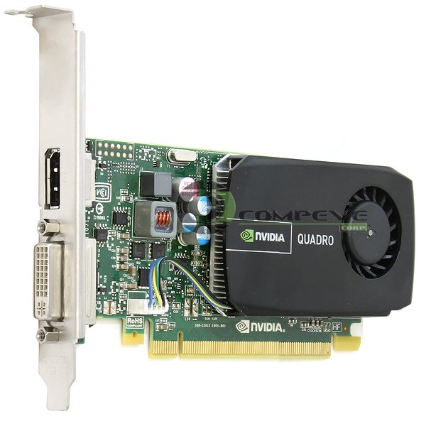 NVIDIA Quadro 410 PCIe x16 512MB DDR3 DP DVI Video Graphics Card Dell C6DD8