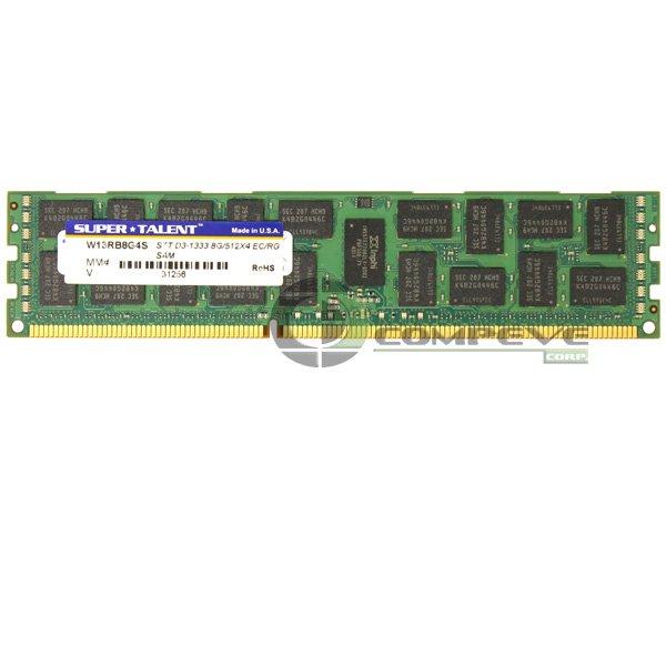 Super Talent 8GB PC3-10600 DDR3 1333MHz ECC 240-pin DIMM Memory Module W13RB8G4S