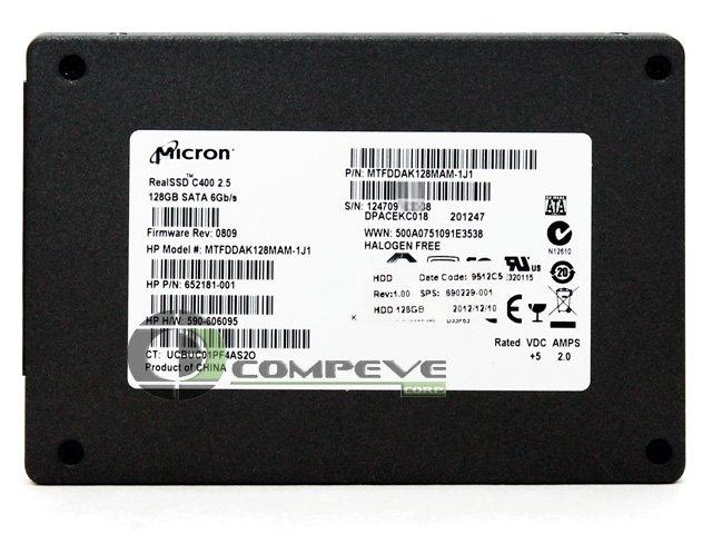 """Micron C400 2.5"""" 128GB SSD Solid State Drive 6GB/s MTFDDAK128MAM-1J1 694686-001"""