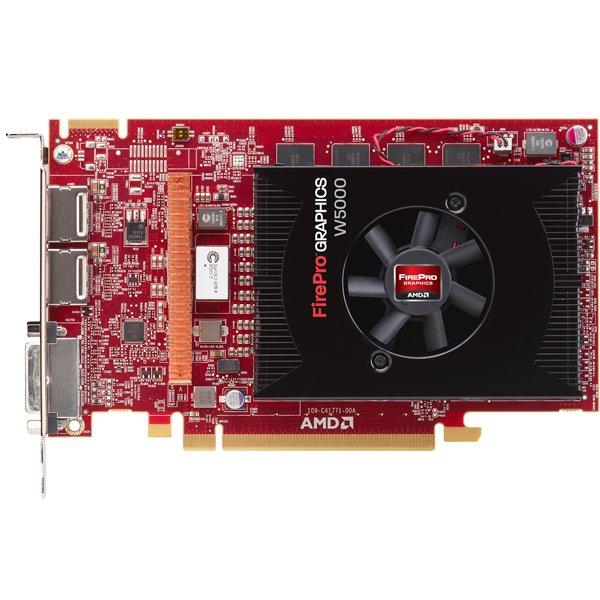 Retail AMD FirePro W5000 2GB GDDR5 PCIe x16 DP DVI Graphics Card 100-505842