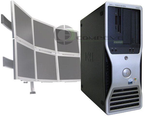 Dell 490 Quad Core 2.66GHz Xeon's/8GB RAM - 6 Monitor Trading Computer Desktop
