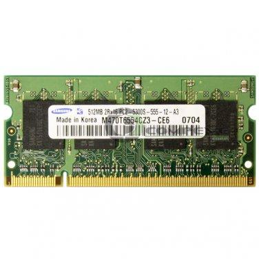 Thinkpad T60 T60p T61 FRU 40Y8402 Samsung 512MB 2Rx16 PC2-5300 SoDimm Memory RAM