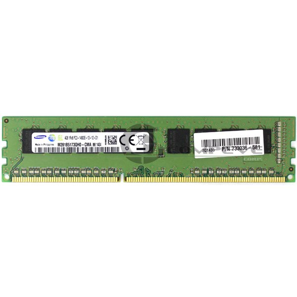 Samsung 4GB PC3-14900E DDR3-1866 ECC Memory M391B5173QH0-CMA HP 733036-581