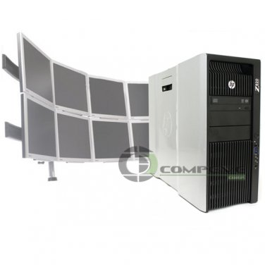 Trading 8 Monitor HP Z820 Video Wall E5-2640 2.5 GHz 2x250GB HDD 2x NVS 510 Win7