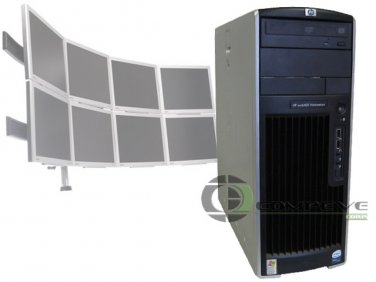 HP XW6400 Quad Core 2.66GHz/8GB/1TB 8 Monitor Trading Computer Workstation PC