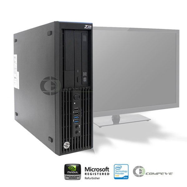 HP Z230 SFF Workstation  i7-4790 3.60GHz/12GB RAM/ 256GB SSD / No OS/HD P4600