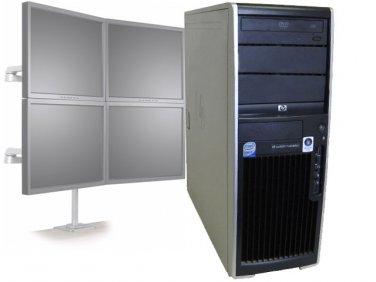 HP XW4600 Workstation Dual Core 2.33GHz/4GB RAM/Win10 - 4 Monitor Computer PC