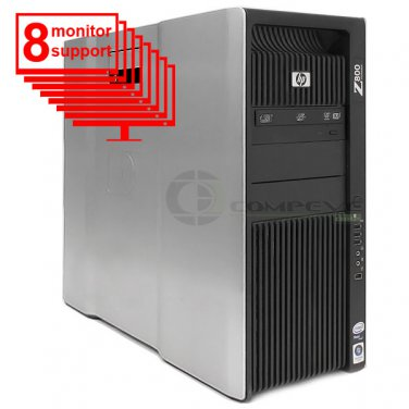 HP Z800 8-Monitor Computer Multi-Display 6-Core/1TB HDD+ 256GB SSD/K1200/Win10