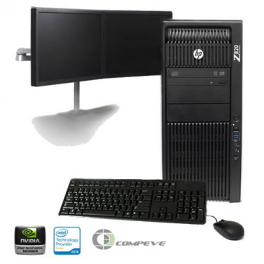 HP Z820 Workstation Intel 2x E5-2640 2.5GHz/ Nvidia K2000/ 12GB RAM/ 2TB / Win10