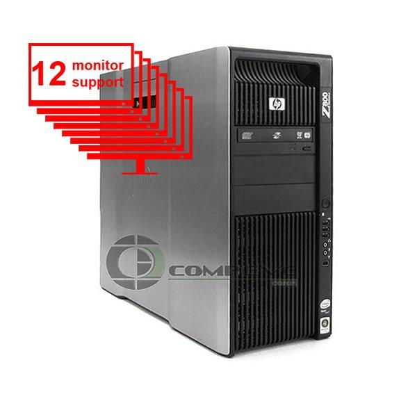 HP Z800 Multi 12-Monitor Computer/Desktop 8-Core/ 12GB/ 1TB HDD/ NVS420/ Win10