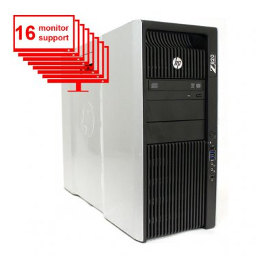HP Z820 16-Monitor Computer/Desktop E5-2640 12-Core/16GB /1TB HDD/NVS 420/Win10