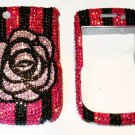 Camellia rhinestones Blackberry Curve 8530 bling case