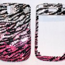 Zebra Blackberry Curve 8520 rhinestones bling case