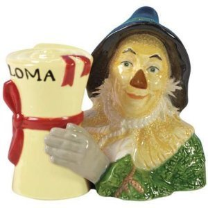 Wizard of Oz Scarecrow and Diploma Salt and Pepper