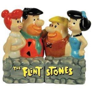 THE FLINTSTONES FRED, WILMA, BETTY, BARNEY & Rubbles Salt & Pepper
