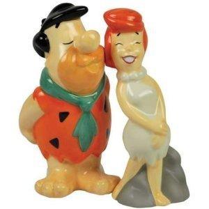 THE FLINTSTONES Fred Kissing Wilma Salt & Pepper
