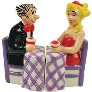 Blondie & Dagwood At Dinner Table Salt Pepper