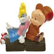 Looney Tunes Elmer Fudd and Bugs Bunny In Love Salt Pepper