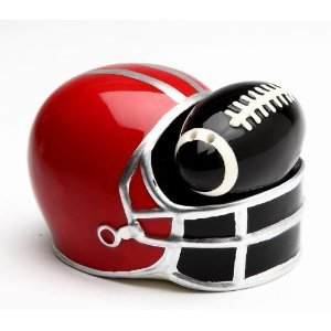 Football and Helmet Salt and Pepper