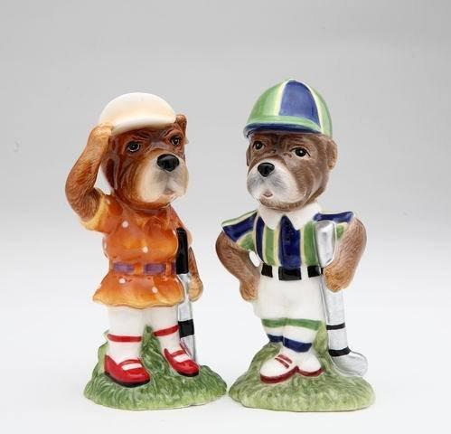 Golf Dog Couple Salt and Pepper